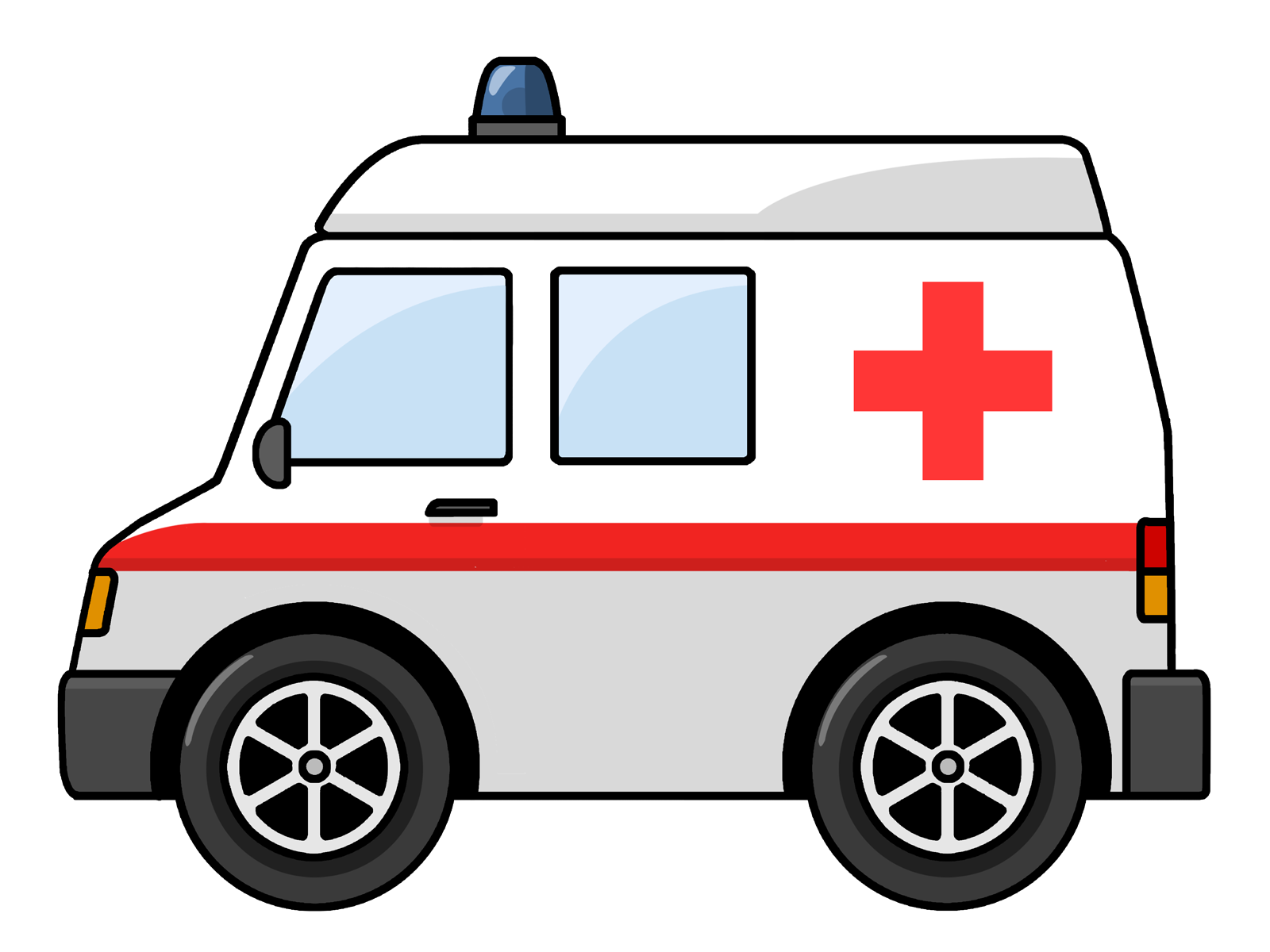 Free Cartoon Ambulance Clip A - Clipart Ambulance
