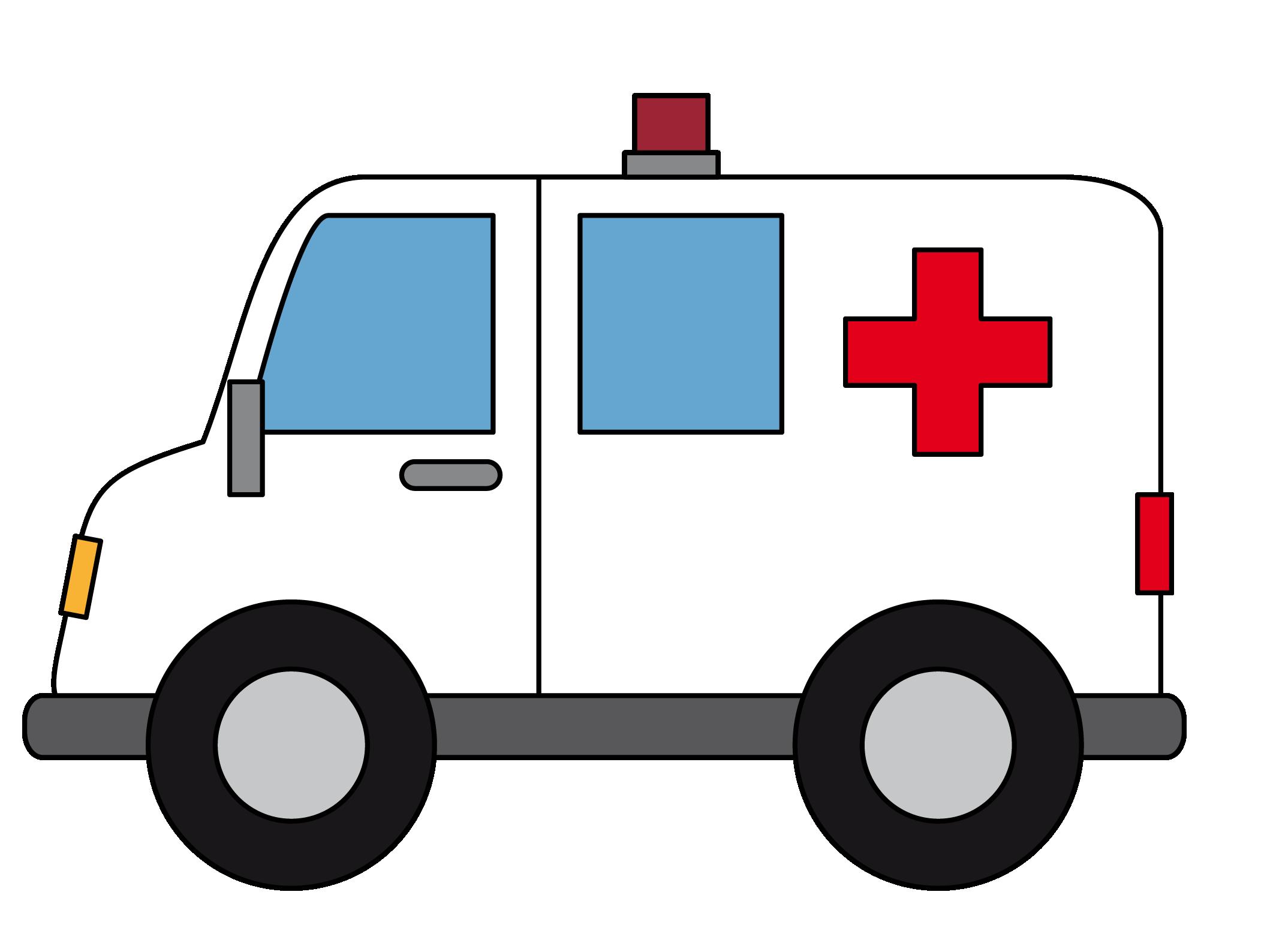 Free Cartoon Ambulance Clip A - Clipart Ambulance
