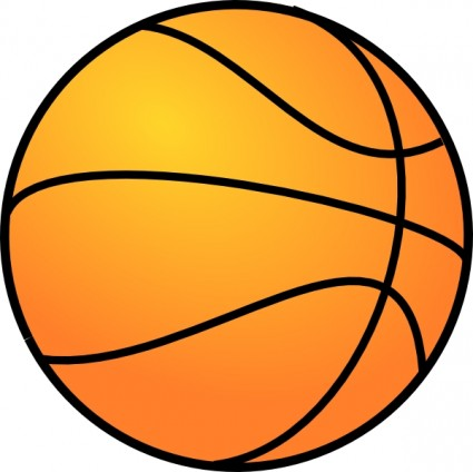 Free cartoon basket ball clip - Ball Clipart