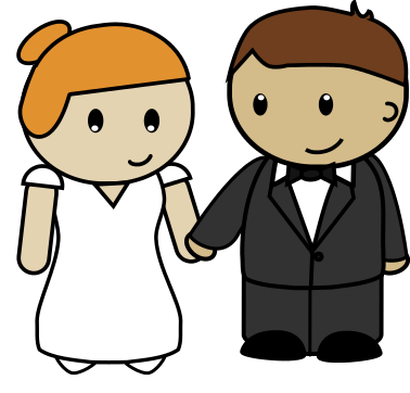 Free Cartoon Bride u0026amp; Groom Clip Art