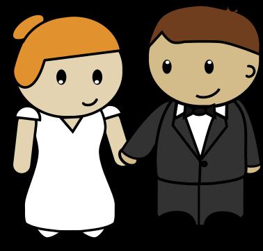 Free Cartoon Bride u0026amp;  - Groom Clipart