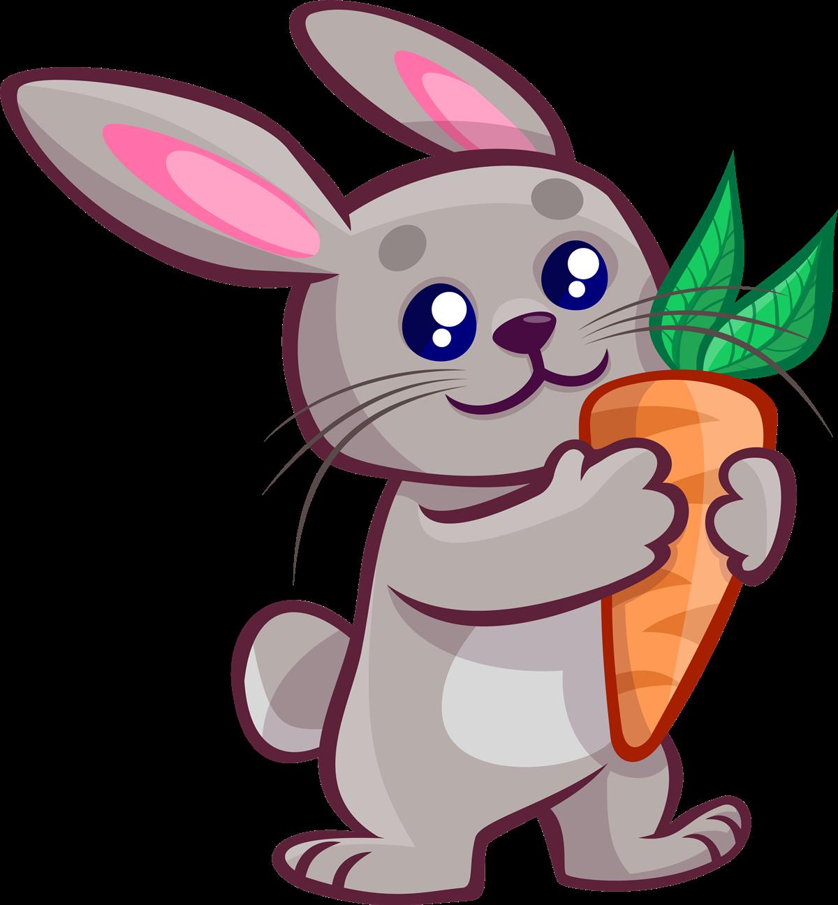 Free Cartoon Bunny Holding A Carrot Clip-Free Cartoon Bunny Holding a Carrot Clip Art-12