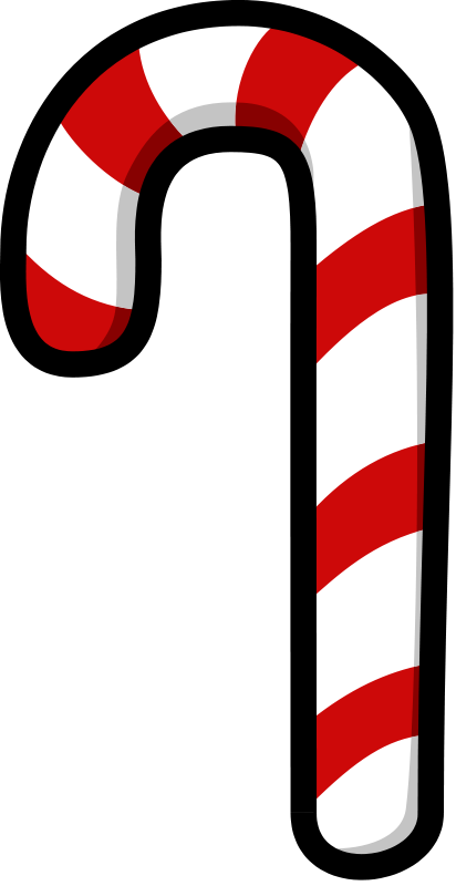 Free Cartoon Candy Cane Clip Art