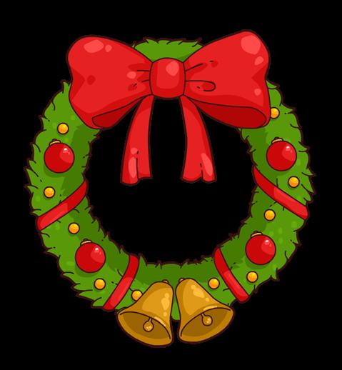 Free Cartoon Christmas Wreath Clip Art-Free Cartoon Christmas Wreath Clip Art-3