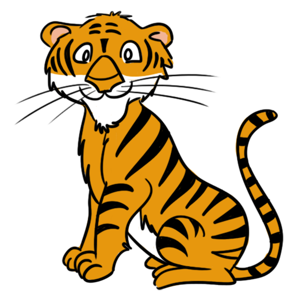 free cartoon clipart u0026middot; Tiger Clip Art