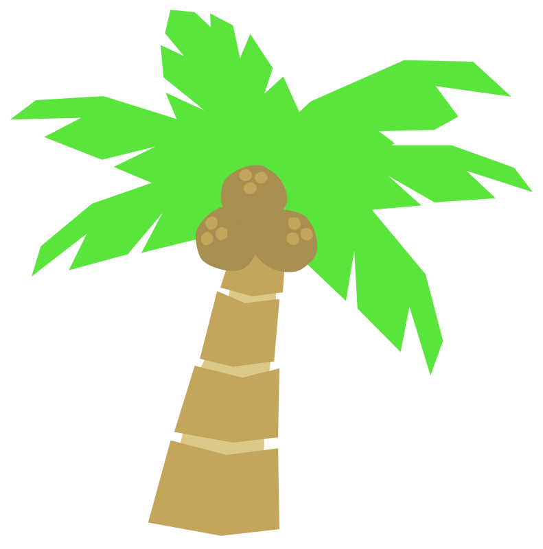 Free Cartoon Coconut Tree Clip Art