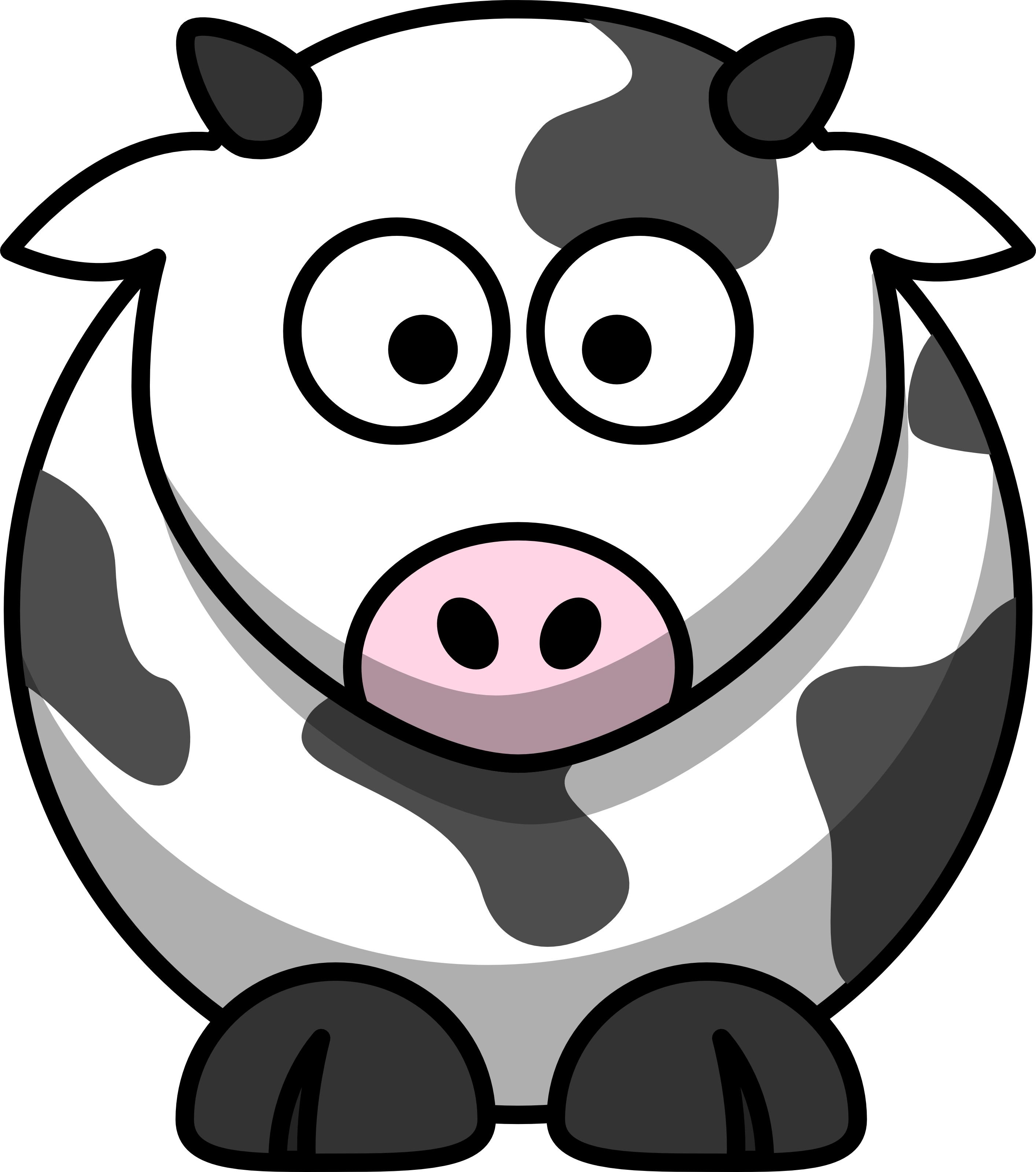 Free Cartoon Cow Clip Art image - vector clip art online, royalty