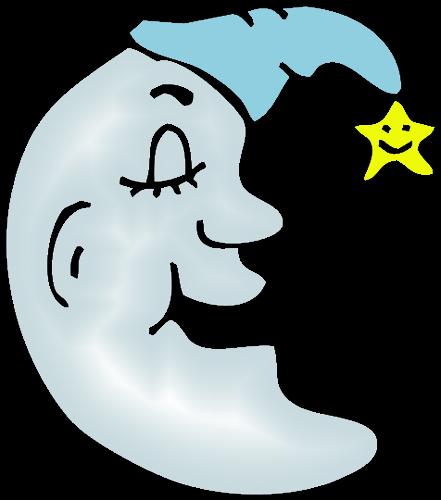 Free Cartoon Crescent Moon Clip Art