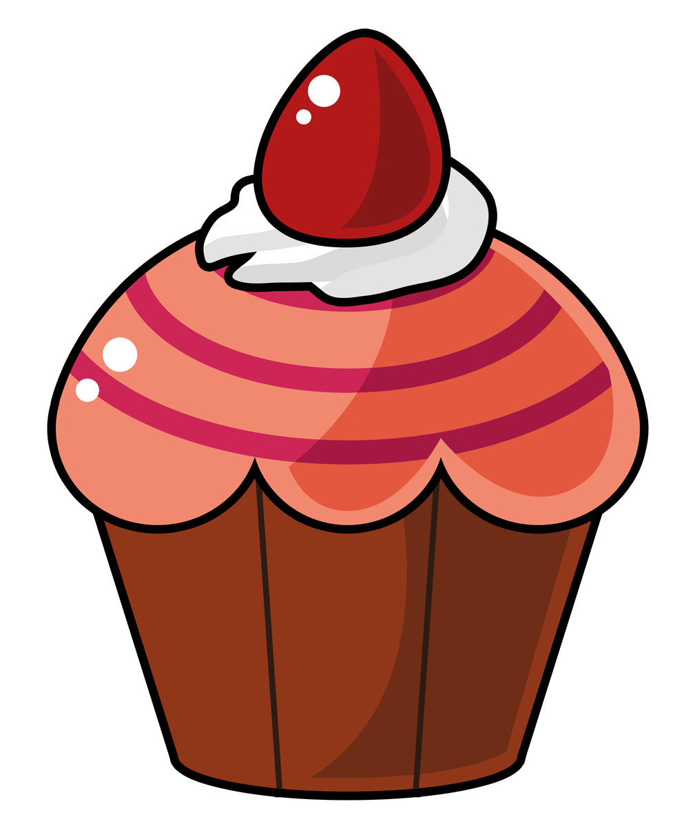 Free Cartoon Cupcake Clip Art u0026middot; cupcake13