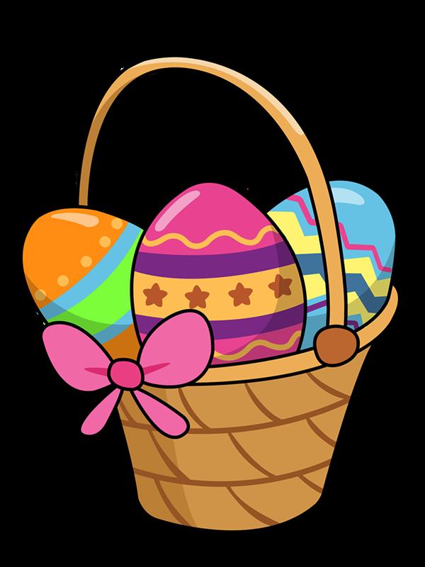 Free Cartoon Easter Basket Clip Art