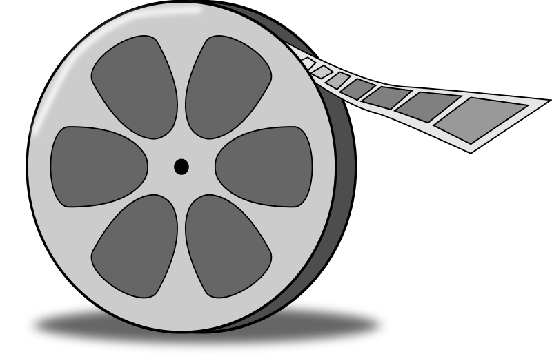 Free Cartoon Film Reel Clip A - Movie Reel Clipart