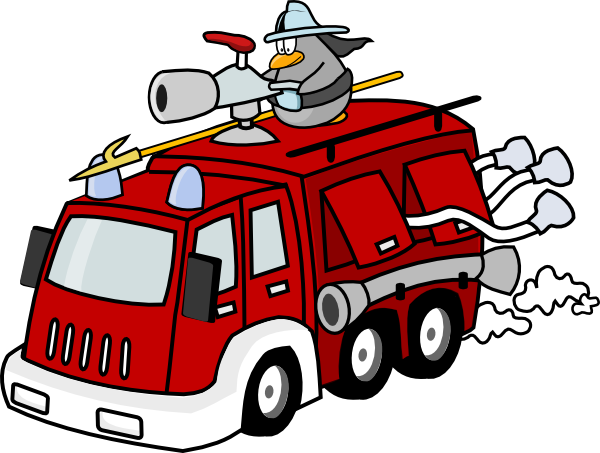 Free Cartoon Fire Truck Clip Art