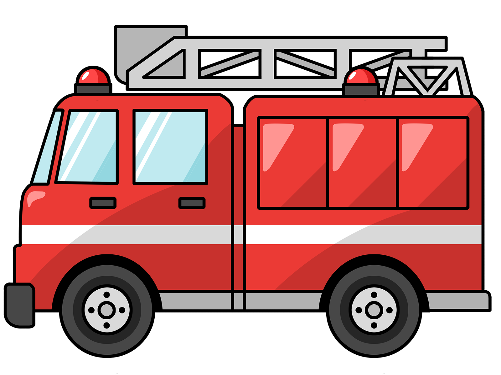 Free Cartoon Fire Truck Clip Art-Free Cartoon Fire Truck Clip Art-3