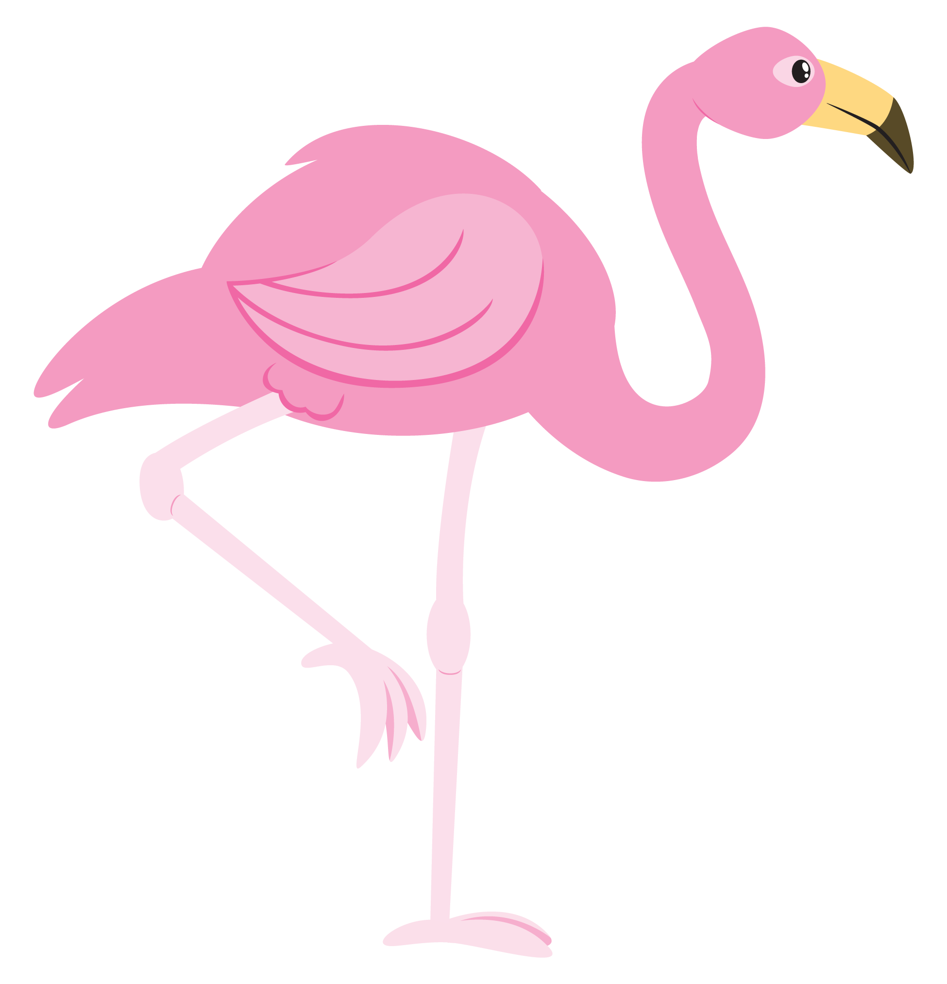 Free Cartoon Flamingo Clip Art