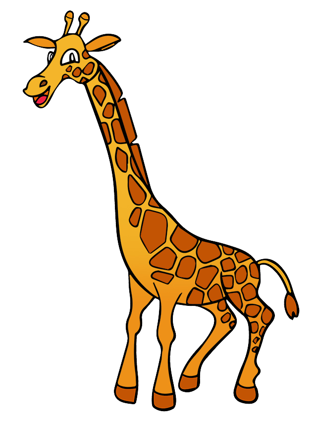 Free Cartoon Giraffe Clip Art - Clip Art Giraffe