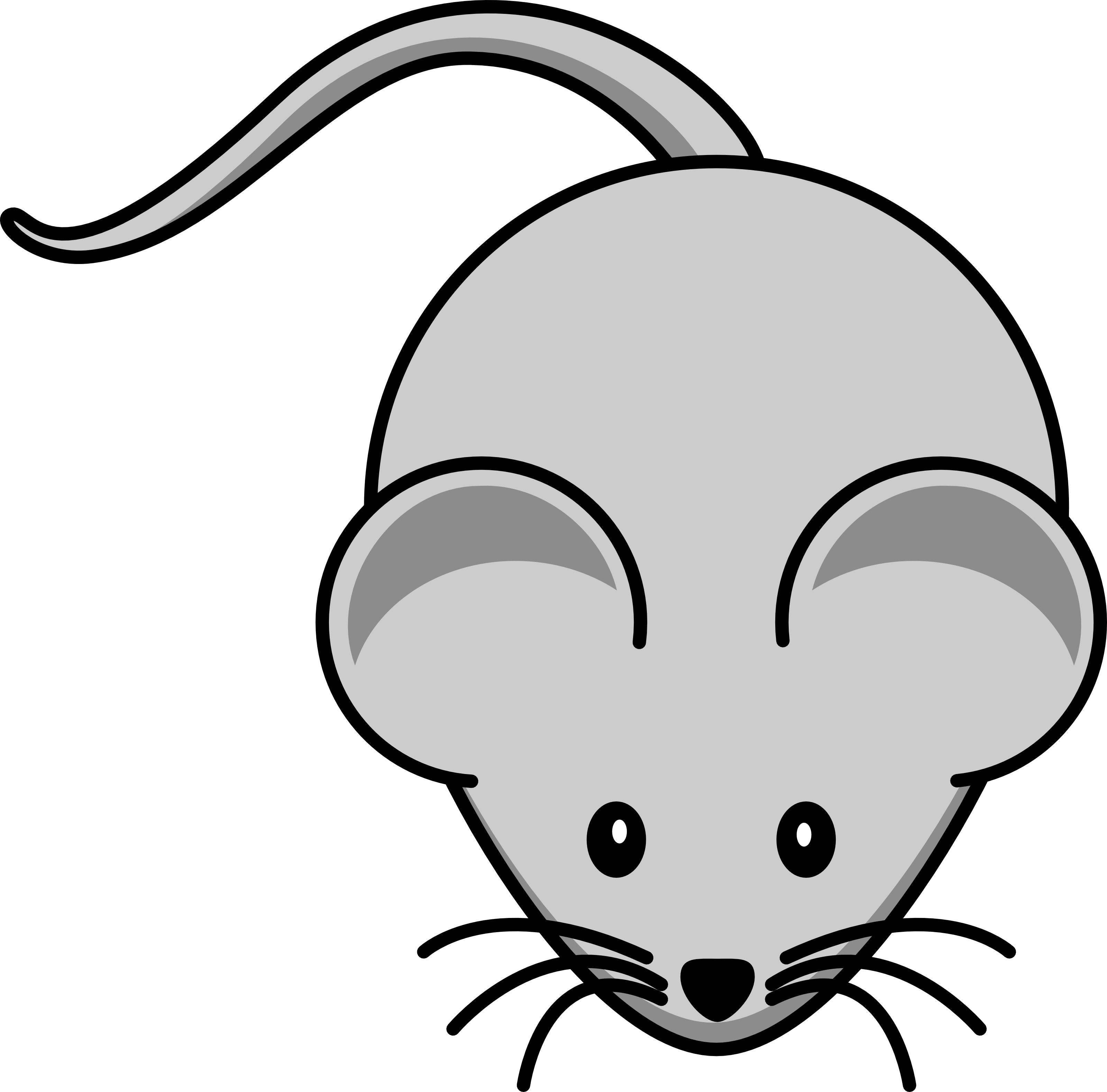 Free Cartoon Gray Field Mouse Clipart Illustration by 000157 .