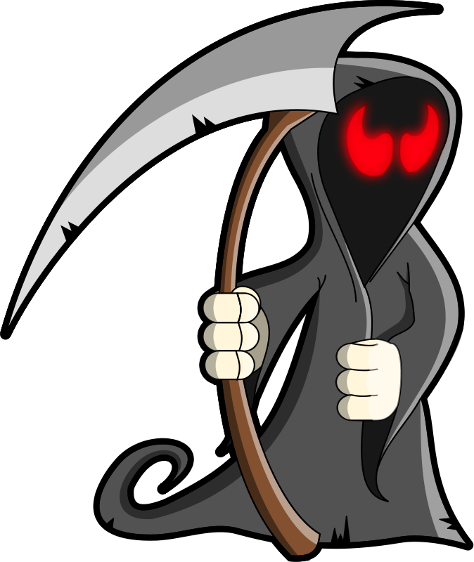 Free Cartoon Grim Reaper Clip Art