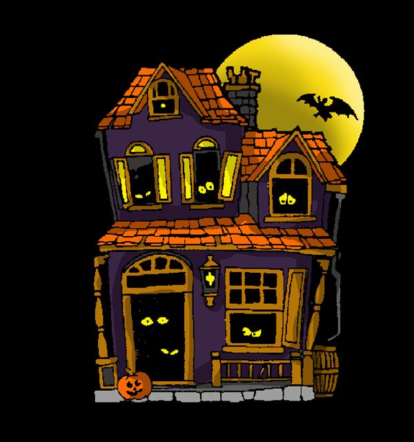 Free Cartoon Haunted House Clip Art-Free Cartoon Haunted House Clip Art-6