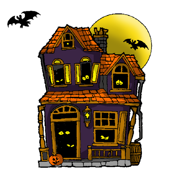 Free Cartoon Haunted House Clip Art