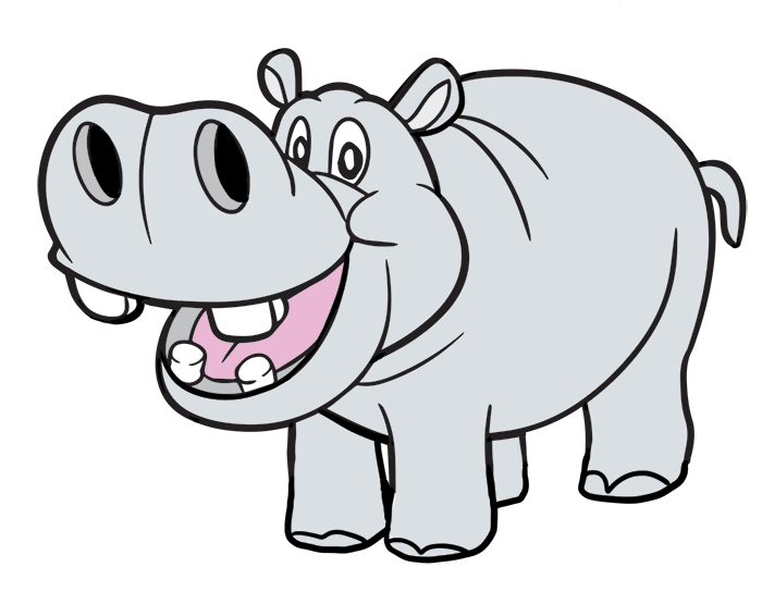 Free Cartoon Hippo Clip Art · hippo8