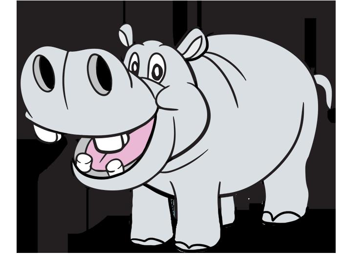 Free Cartoon Hippo Clip Art · hippo8-Free Cartoon Hippo Clip Art · hippo8-1