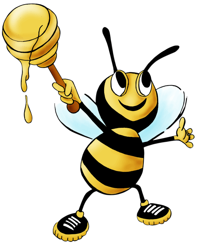 Free Cartoon Honey Bee Clip Art