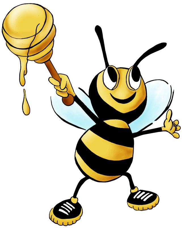 Free Cartoon Honey Bee Clip Art-Free Cartoon Honey Bee Clip Art-4