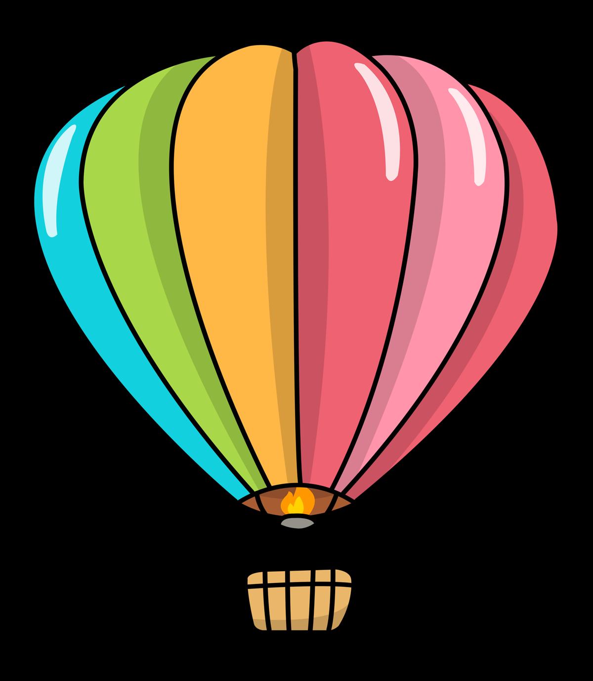 Free Cartoon Hot Air Balloon Clip Art