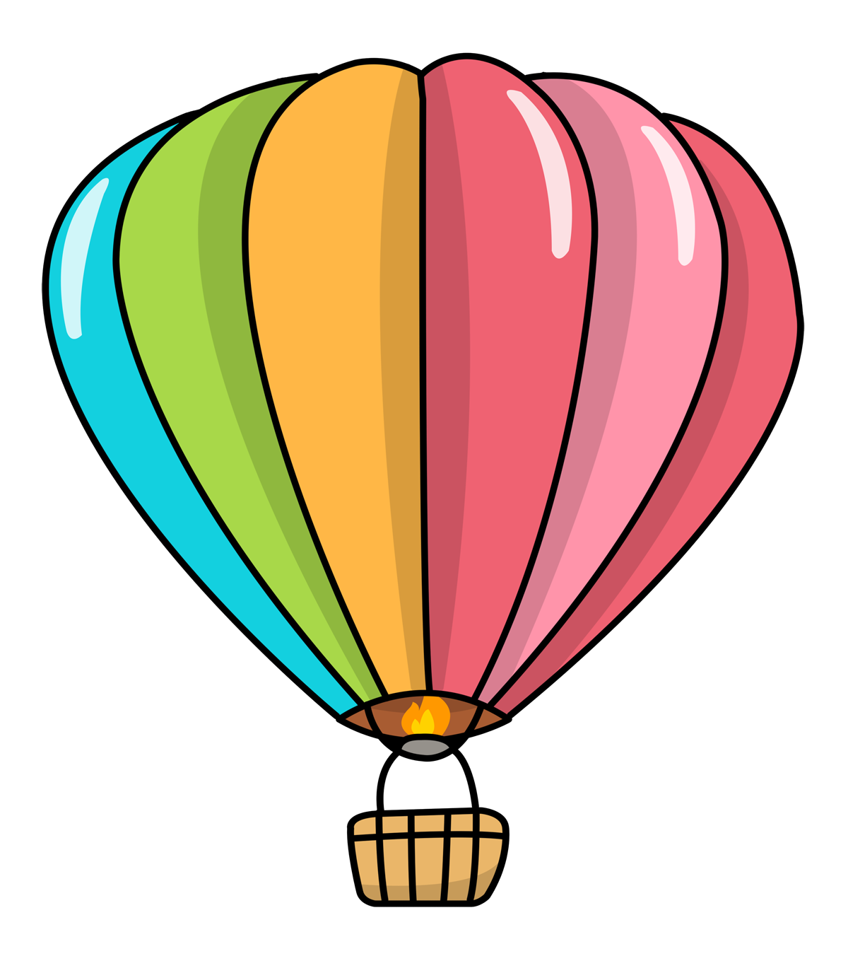 Free Cartoon Hot Air Balloon Clip Art