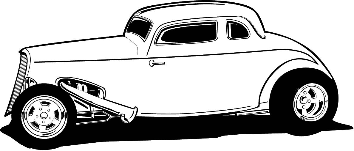 Free Cartoon Hot Rod Car .
