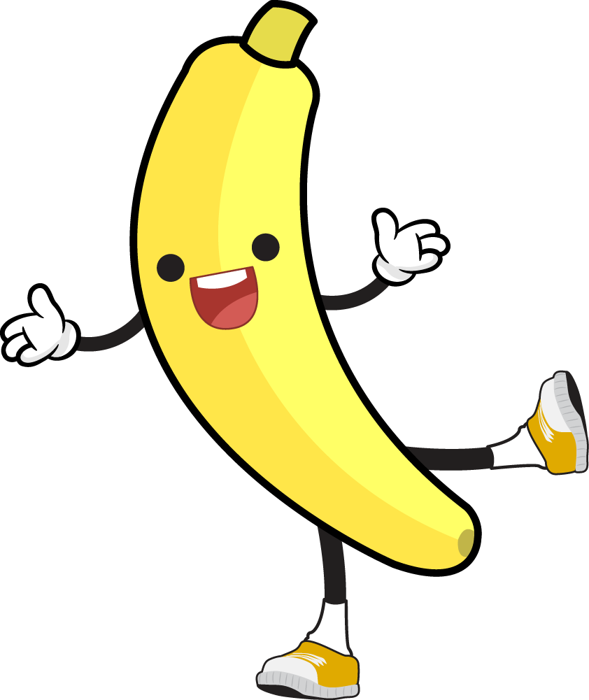Free Cartoon Jolly Banana Clip Art
