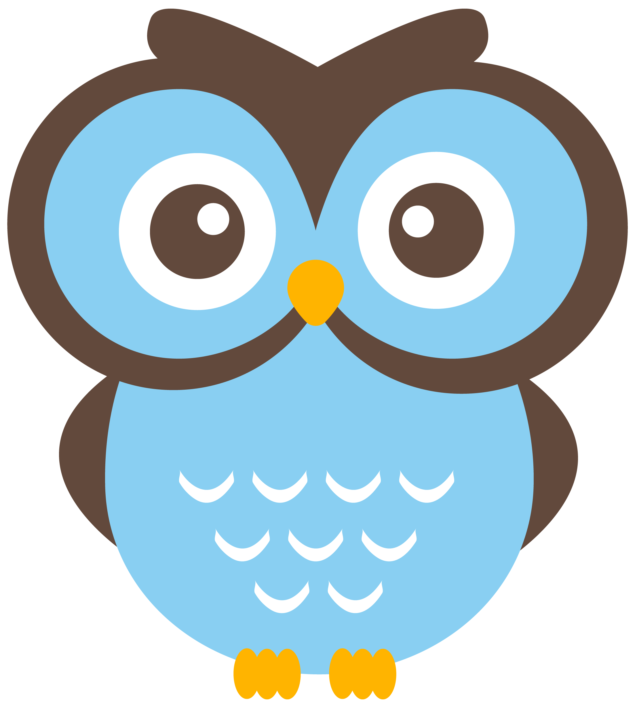 Free cartoon owl clipart image