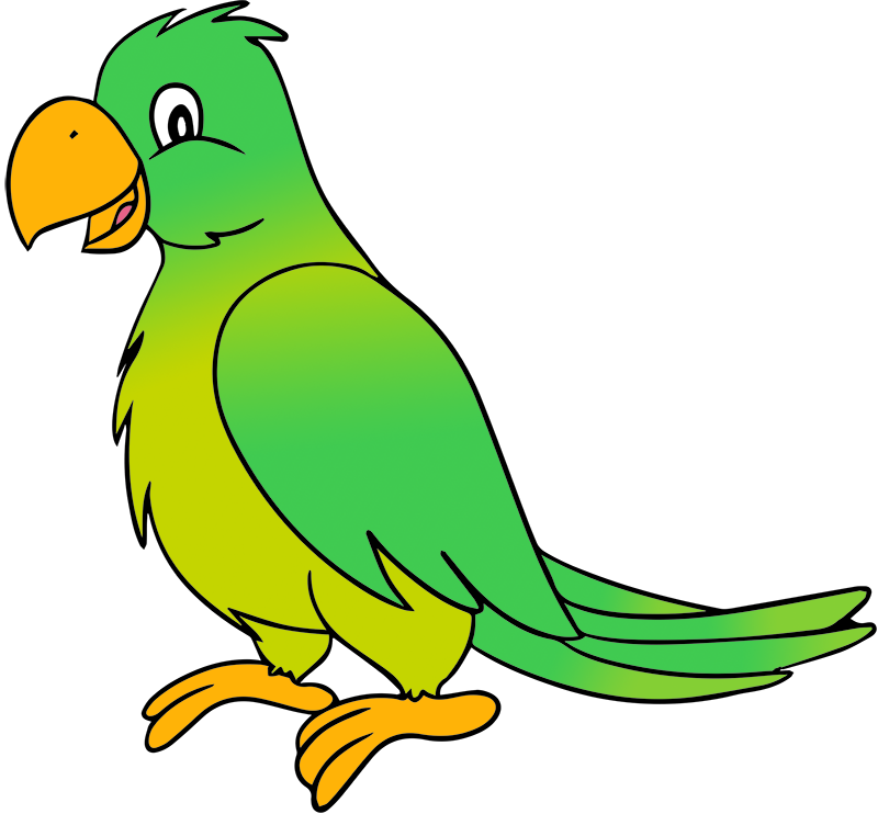 Free Cartoon Parrot Clip Art
