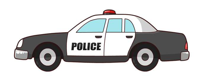 Free Cartoon Police Car Clip Art-Free Cartoon Police Car Clip Art-3