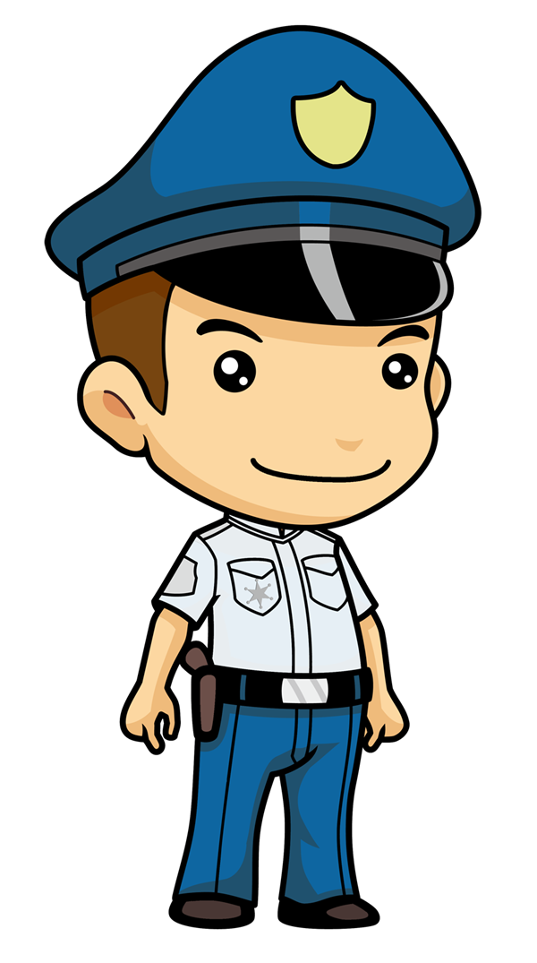 Free Cartoon Police Officer C - Police Officer Clipart
