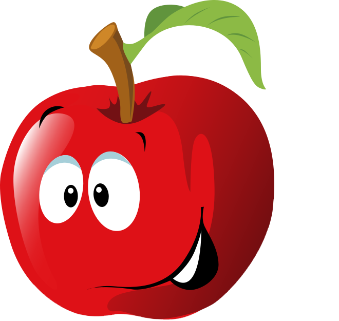 Free Cartoon Red Apple Clip Art-Free Cartoon Red Apple Clip Art-12