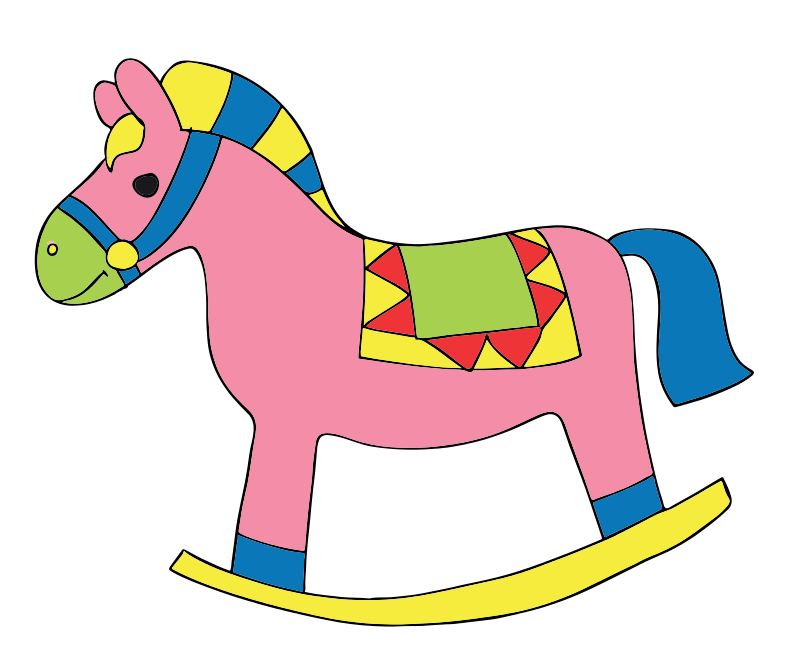 Free Cartoon Rocking Horse Clip Art