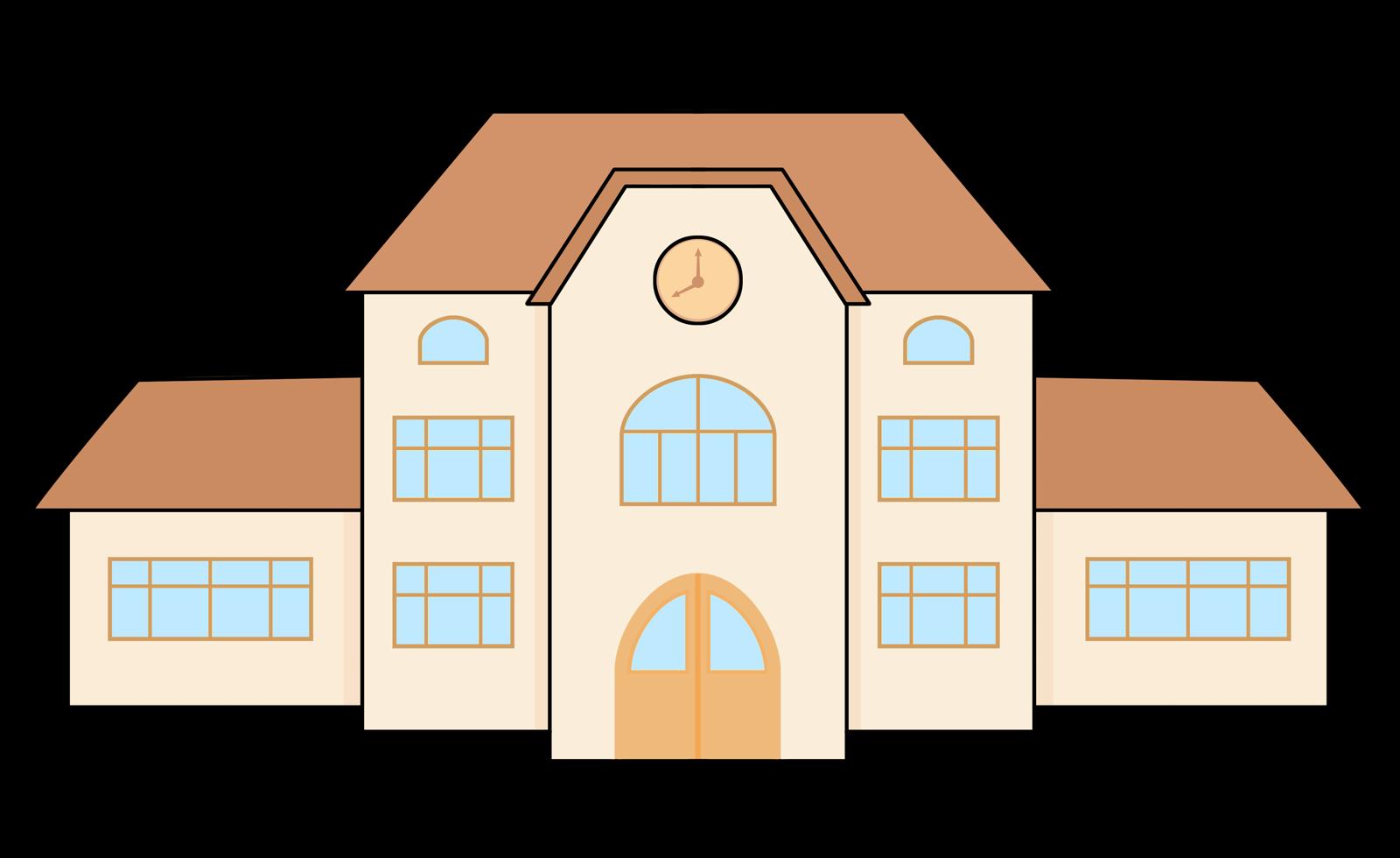 Free Cartoon School Building Clip Art-Free Cartoon School Building Clip Art-4