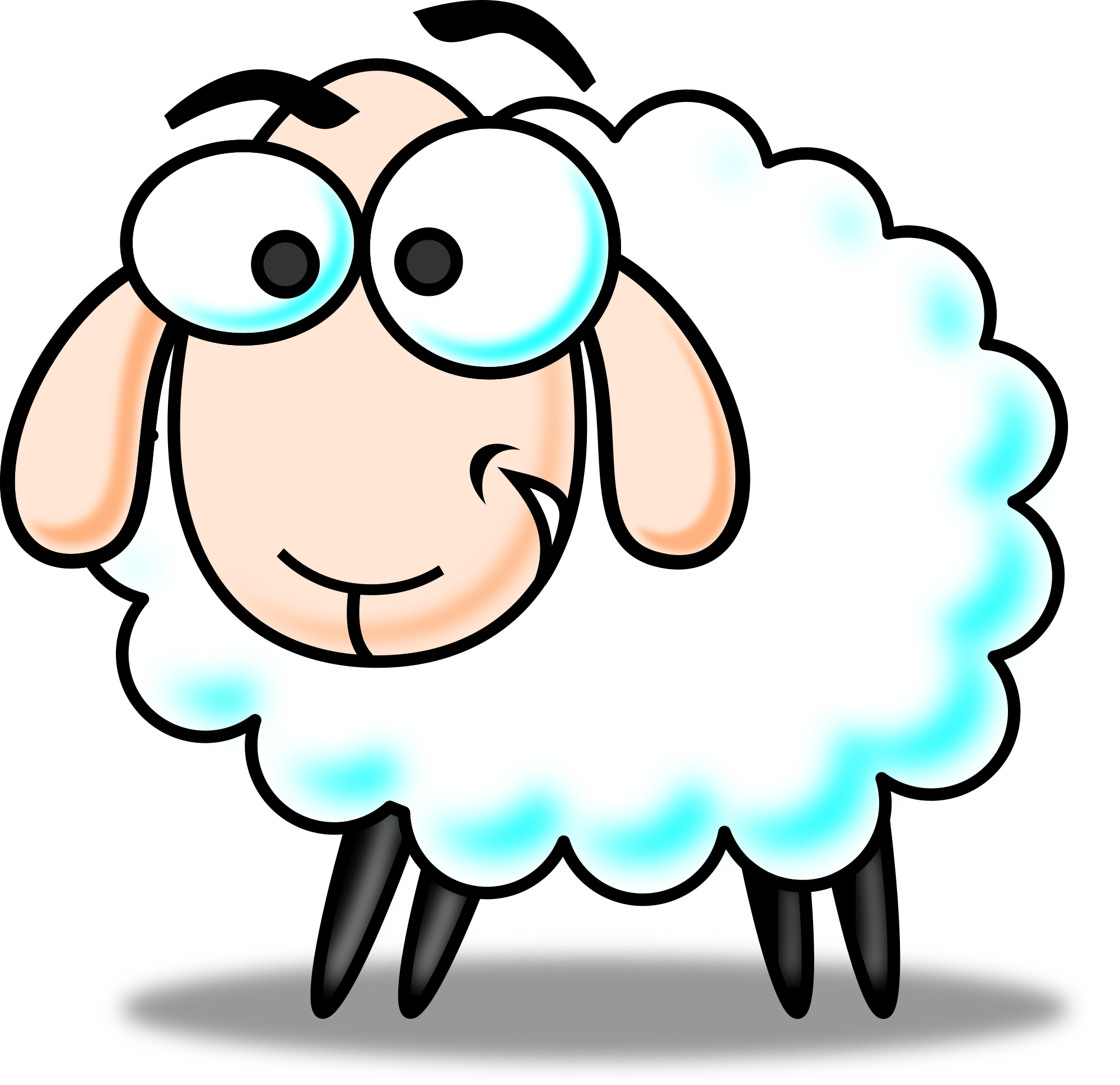 Free cartoon sheep clip art .-Free cartoon sheep clip art .-5