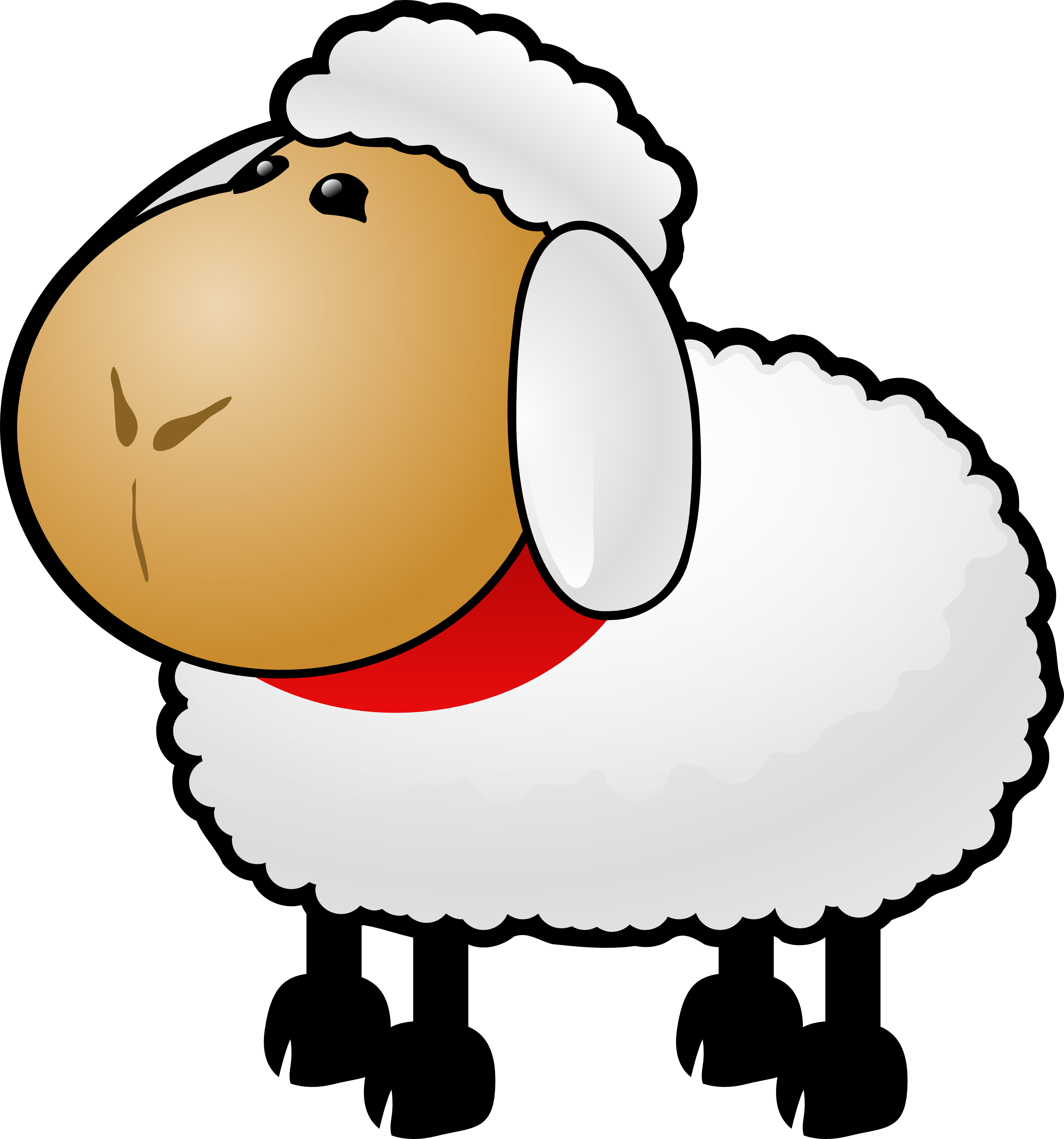Free Cartoon Sheep Clipart Illustration -Free Cartoon Sheep Clipart Illustration by 000154 .-4
