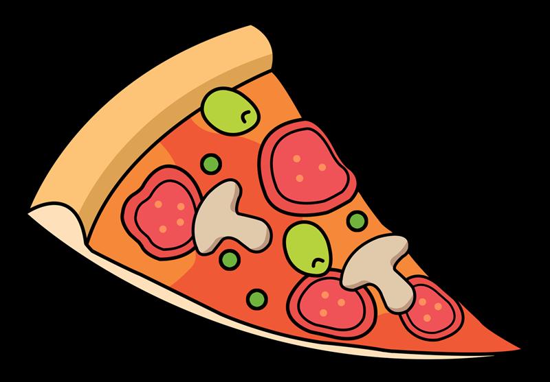 Free Cartoon Sliced Pizza Cli - Free Clipart Pizza