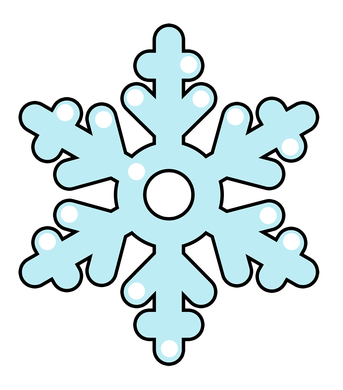 Free Cartoon Snowflake Clip A - Clip Art Snow Flake