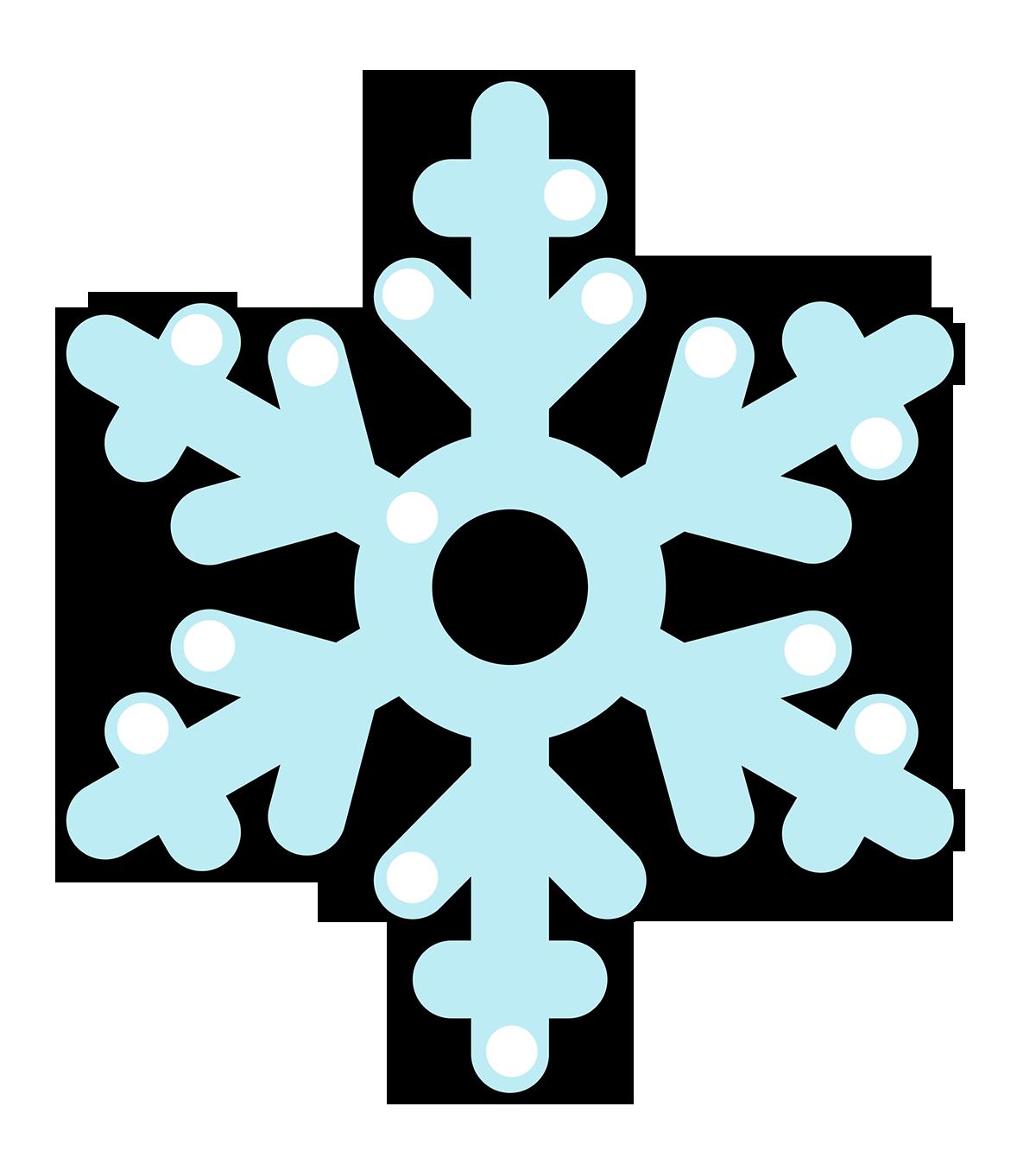 Free Cartoon Snowflake Clip A - Snow Flakes Clipart