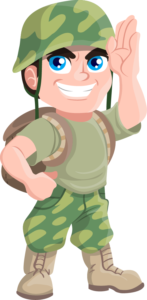 Free Cartoon Soldier Clip Art - Clip Art Soldier