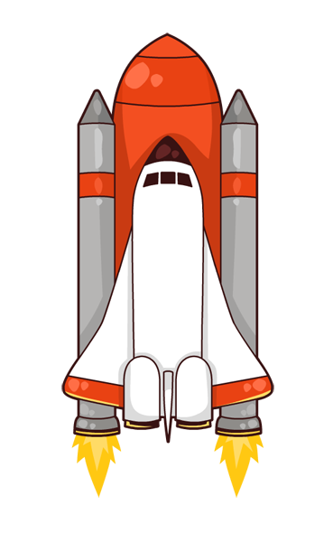 Free Cartoon Space Shuttle Clip Art