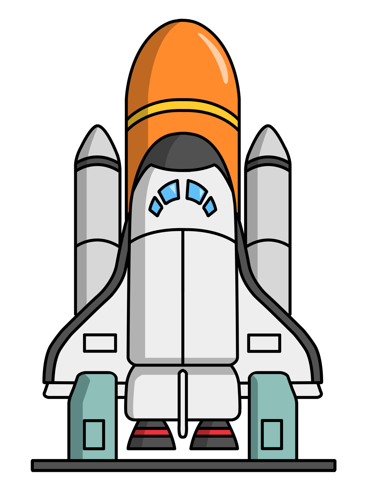 Free Cartoon Space Shuttle .