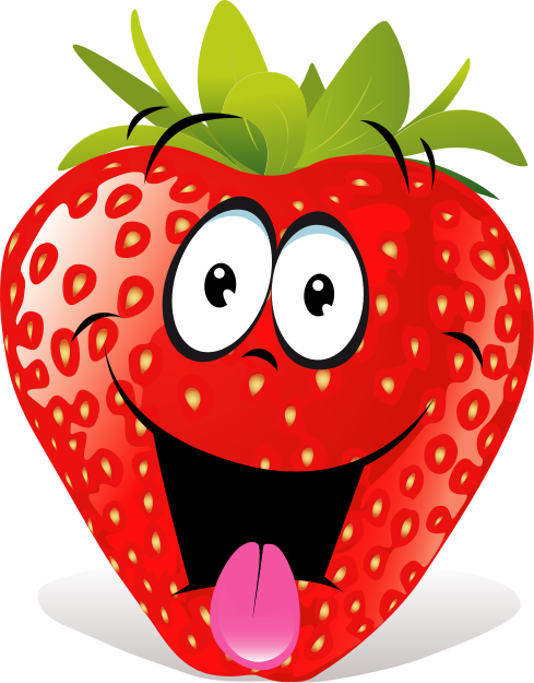 Free Cartoon Strawberry Clip Art