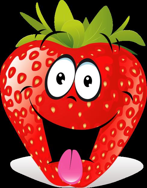 Free Cartoon Strawberry Clip Art