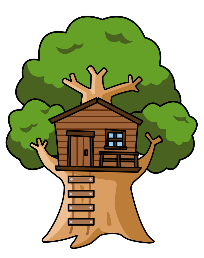 Free Cartoon Tree House Clip Art