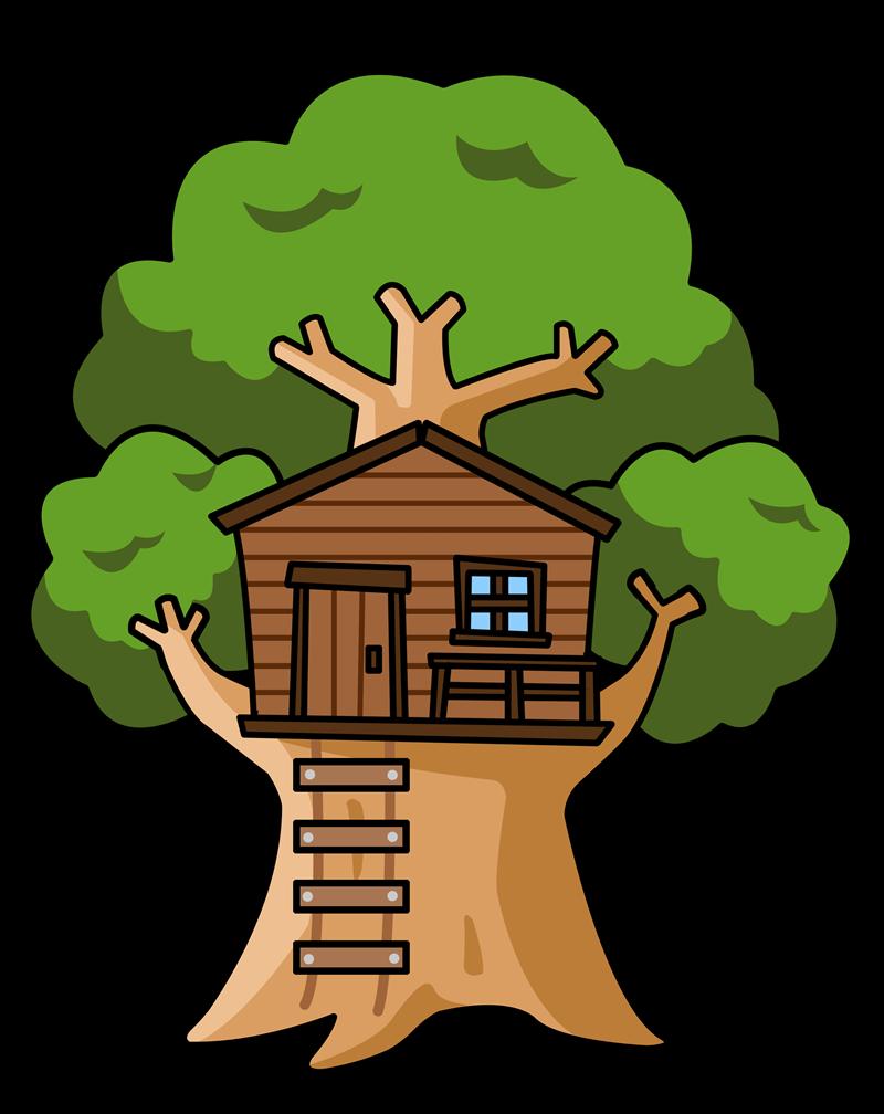 Free Cartoon Tree House Clip Art-Free Cartoon Tree House Clip Art-1